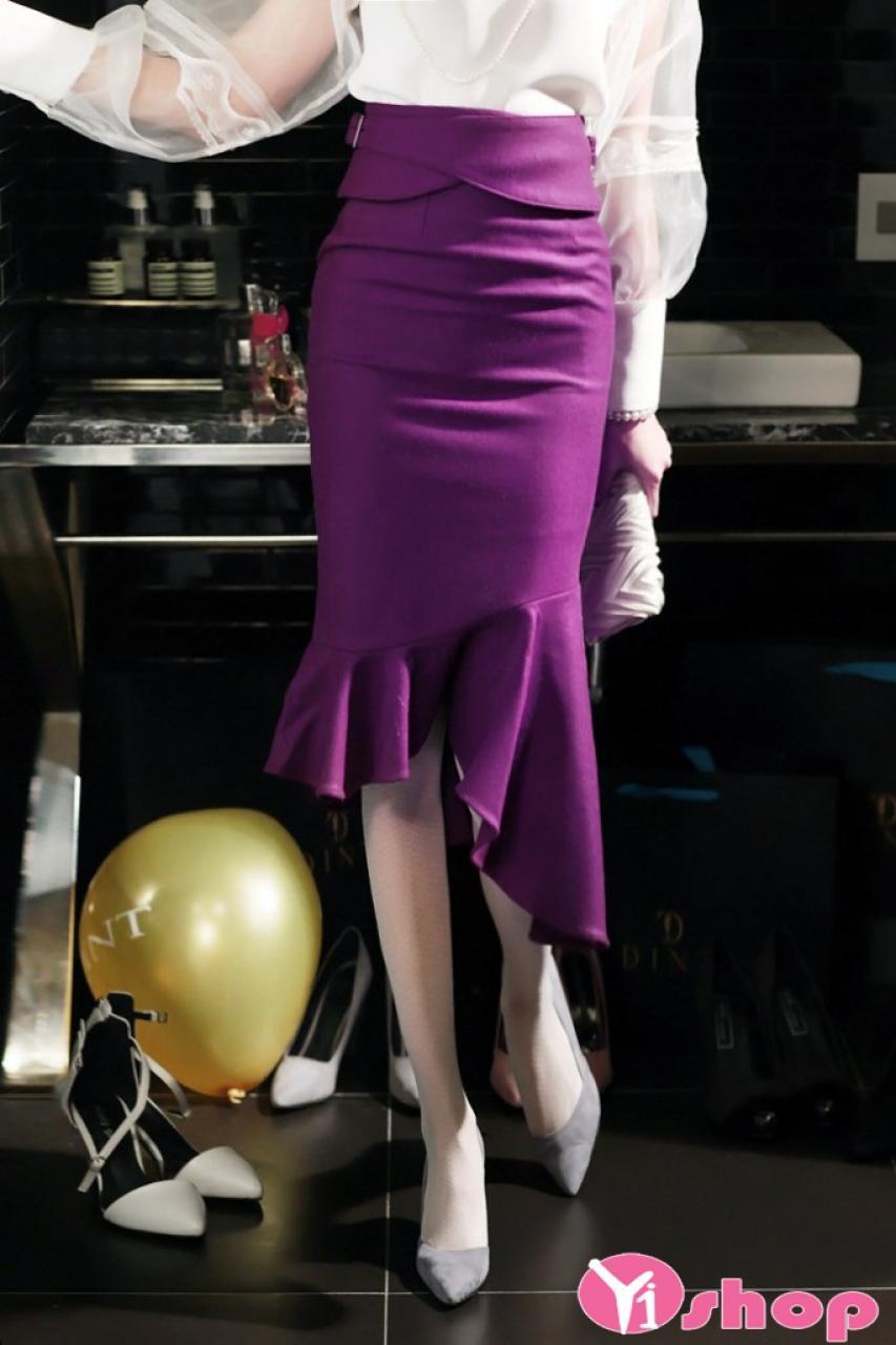 Chân váy đầm ôm xòe đẹp hè 2021 - 2022 duyên dáng tới công sở
