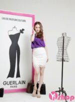 Chân váy đầm ren trắng đẹp hè 2021 – 2022 tới công sở duyên dáng nữ tính