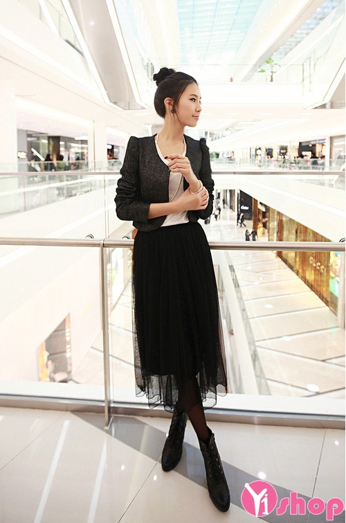 Chân váy đầm voan xòe đẹp kiểu Hàn Quốc bồng bềnh hè 2021 - 2022