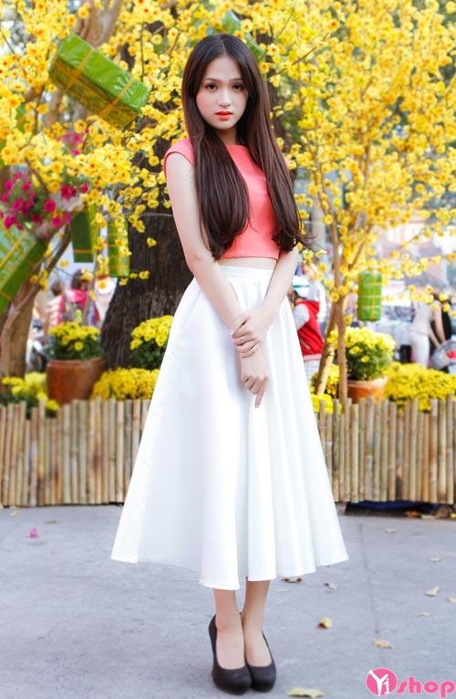 Chân váy đầm xếp ly dài đẹp hè 2021 - 2022 xu hướng thời trang HOT nhất