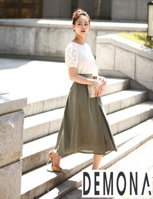 Diện chân váy xòe dài đẹp nhất hè 2019 thời trang công sở điệu đà phần 9