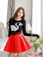 Chân váy đầm xòe đẹp hè 2021 – 2022 kiểu Hàn Quốc nữ tính