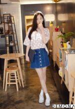 Chân váy đẹp denim hè 2021 – 2022 cho bạn gái cá tính dạo phố