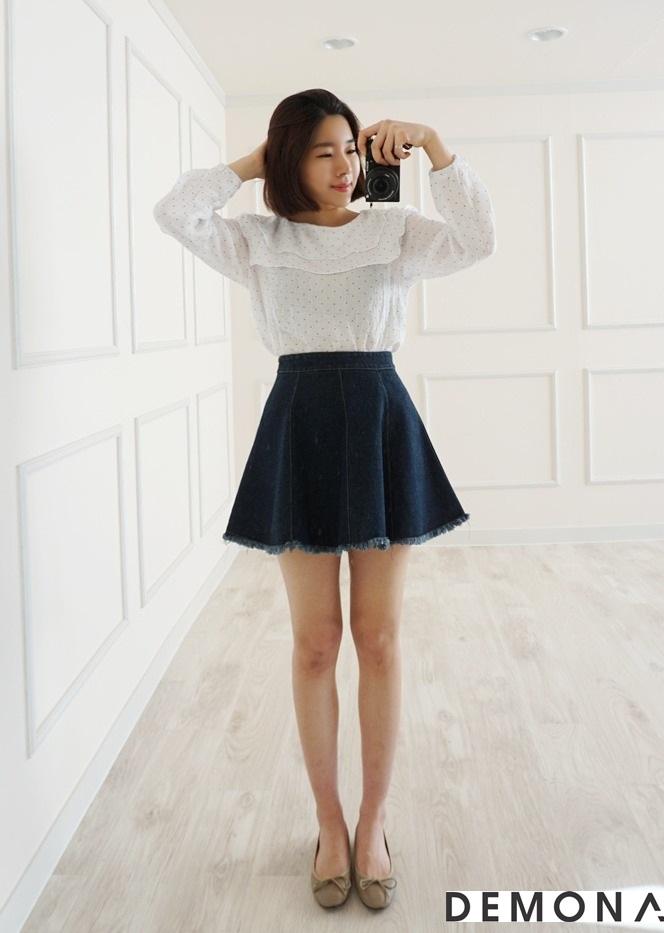Chân váy đẹp denim hè 2019 cho bạn gái cá tính dạo phố phần 11