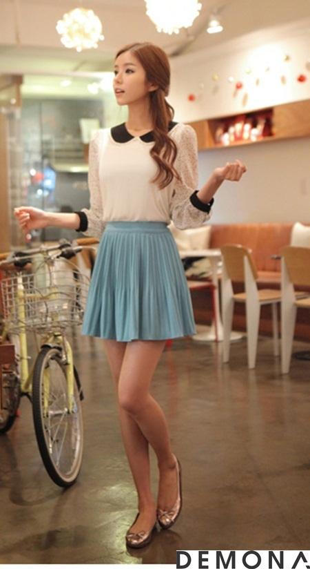 Chân váy đẹp màu pastel cho nàng công sở dịu mát hè 2021 - 2022 phần 15