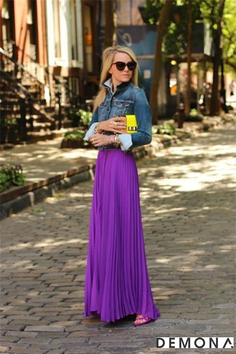 Chân váy đẹp màu tím cho bạn gái dạo phố hè 2021 - 2022 đầy lãng mạn phần 11