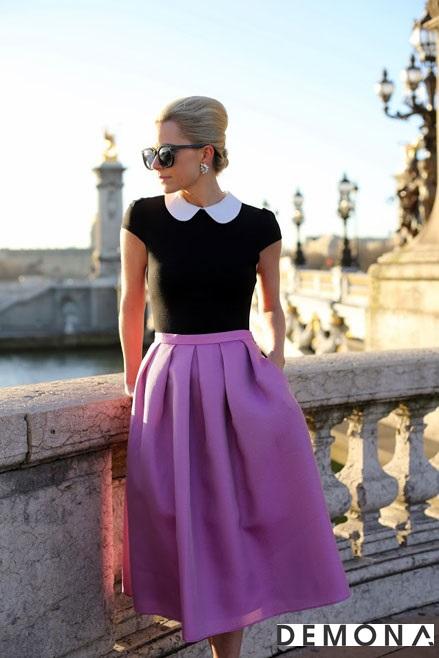 Chân váy đẹp màu tím cho bạn gái dạo phố hè 2021 - 2022 đầy lãng mạn phần 6
