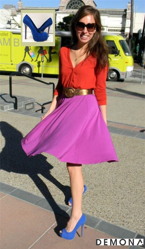 Chân váy đẹp màu tím cho bạn gái dạo phố hè 2021 - 2022 đầy lãng mạn phần 9