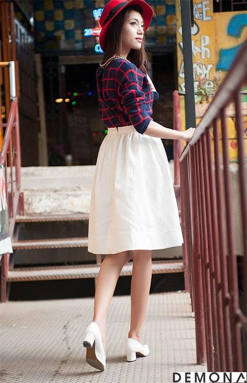 Chân váy đẹp midi kiểu hàn quốc hè 2021 - 2022 cho nàng thấp lùn phần 12