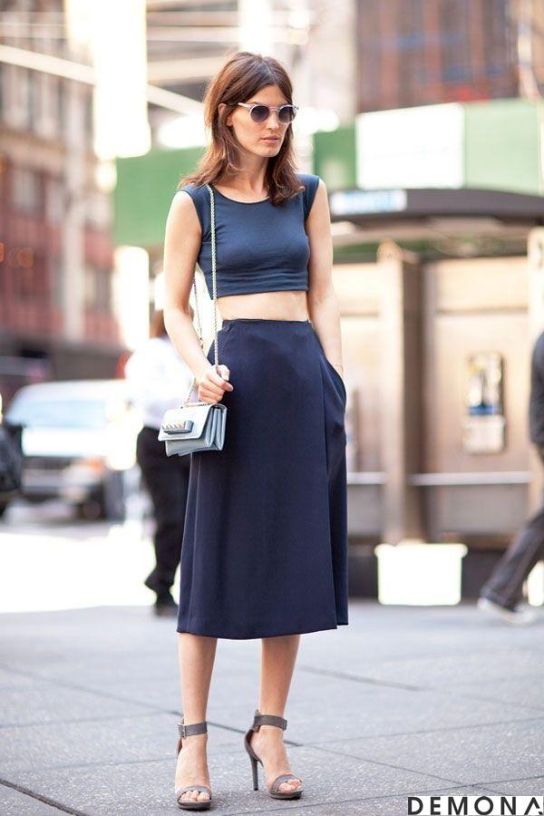 Chân váy đẹp midi kiểu hàn quốc hè 2021 - 2022 cho nàng thấp lùn phần 13