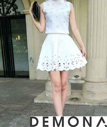 Chân váy đẹp ren đục lỗ hè 2021 - 2022 phong cách Hàn Quốc trẻ trung phần 13