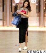 Chân váy đẹp xẻ tà công sở hè 2021 – 2022 cho nàng khoe chân thon