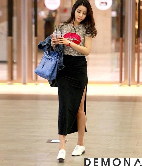 Chân váy đẹp xẻ tà công sở hè 2021 - 2022 cho nàng khoe chân thon phần 1