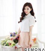 Chân váy hồng phấn đẹp hè 2021 – 2022 cho nàng công sở dịu dàng