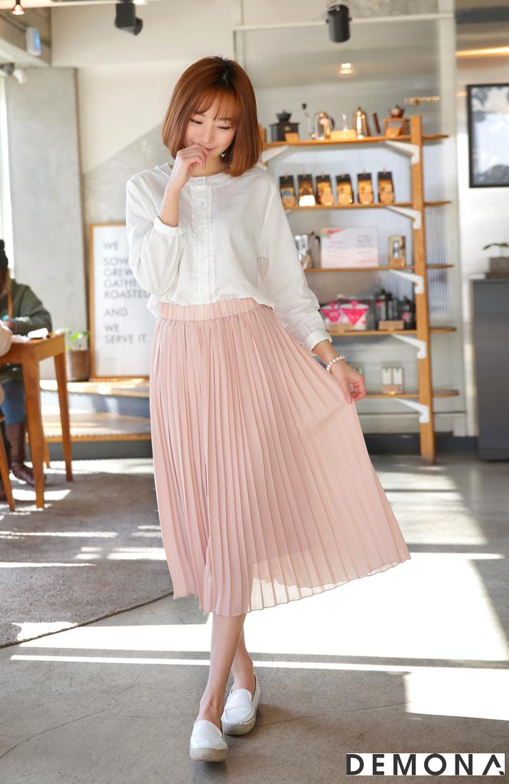 Chân váy midi xếp ly đẹp hè 2019 cho nàng nấm lùn phần 1