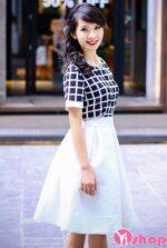 Chân váy midi xòe đẹp cho nàng công sở duyên dáng ngày hè 2021 – 2022