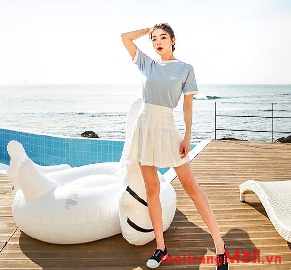 Chân váy ngắn kiểu hàn quốc đẹp rạng rỡ dưới nắng hè 2019 phần 10