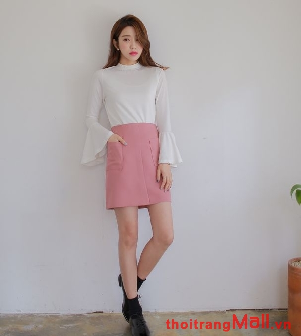 Chân váy ngắn kiểu hàn quốc đẹp rạng rỡ dưới nắng hè 2019 phần 14