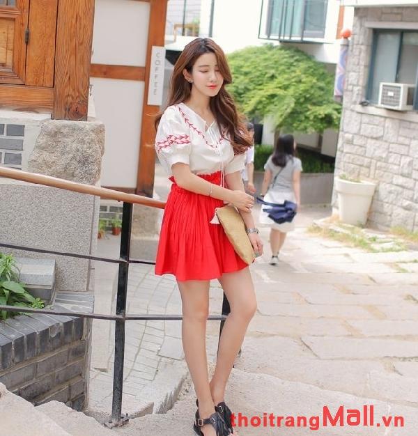 Chân váy ngắn kiểu hàn quốc đẹp rạng rỡ dưới nắng hè 2019 phần 8