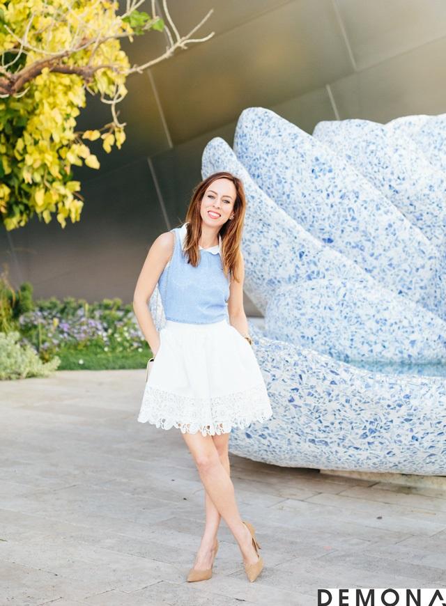 Chân váy xòe màu trắng đẹp cho nàng công sở hè 2019 trẻ trung phần 3