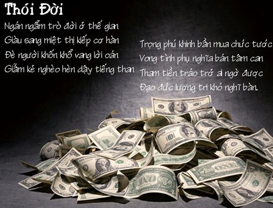 Những câu danh ngôn & status hay về tiền tài danh vọng trong xã hội