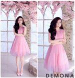 Đầm dự tiệc dáng xòe đẹp xinh xắn như công chúa xuân hè 2021 – 2022