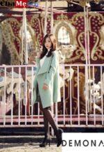 Dạo phố cực chất với áo khoác dạ nữ sài gòn tphcm màu pastel đẹp chào thu đông 2021 – 2022