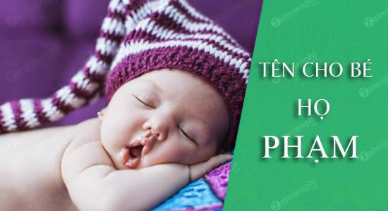 Đặt tên cho con theo họ Phạm Tân Sửu 2021: Tên đẹp cho bé trai, bé gái