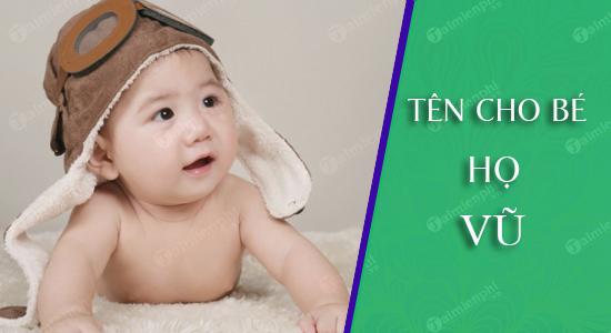 Đặt tên cho con theo họ Vũ sinh năm 2021 Tân Sửu: Tên đẹp cho bé trai, bé gái