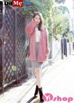 Đi làm mặc áo khoác lông nữ dáng lửng đẹp thu đông 2021 – 2022 cực thu hút