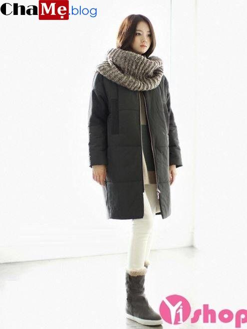 Đổi gió với áo khoác phao nữ sài gòn tphcm dáng dài đẹp cho ngày thu đông 2021 - 2022 ấm hơn