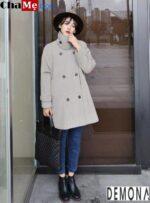 F5 phong cách ngày lạnh với áo khoác dạ nữ sài gòn tphcm dáng suông đẹp thu đông 2021 – 2022