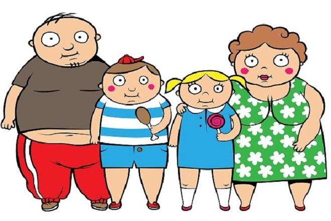 gia đình béo phì