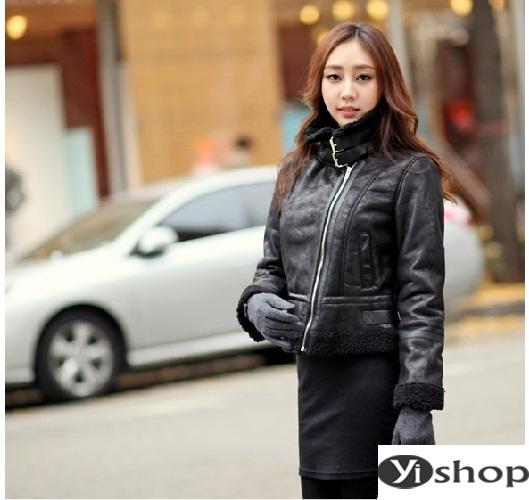 Gợi ý áo khoác da nữ đẹp hàn quốc lựa chọn tuyệt vời ngày gió đông 2021 - 2022 phần 4