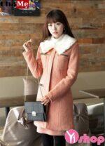 Gợi ý mặc áo khoác dạ nữ sài gòn tphcm cổ lông đẹp ấm áp hợp mốt thu đông 2021 – 2022