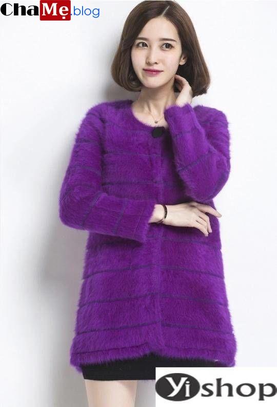 Học sao hàn diện áo khoác len nữ dáng dài đẹp cực chất thu đông 2021 - 2022