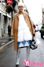 Khoe vẻ sành điệu trong chiếc áo khoác dạ nữ sài gòn tphcm dáng dài đẹp thu đông 2021 – 2022