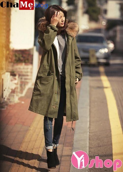 Kiểu áo khoác dạ nữ dáng dài đẹp khoe sắc đầu đông 2021 - 2022