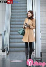Kiểu áo khoác dạ nữ dáng suông đẹp công sở đông 2021 – 2022