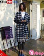 Kiểu áo khoác dạ nữ dáng suông đẹp thời trang công sở đông 2021 – 2022