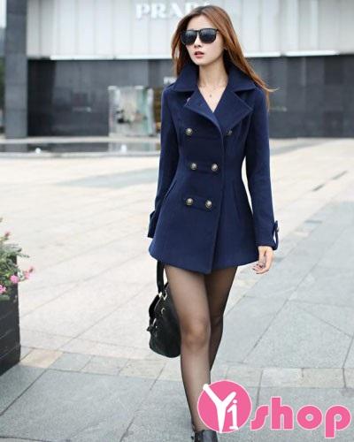 Kiểu áo khoác dạ nữ đẹp thiết kế tinh tế hợp thời trang thu đông 2019