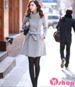 Kiểu áo khoác dạ nữ Hàn Quốc đẹp đa dạng sắc màu thu đông 2021 – 2022