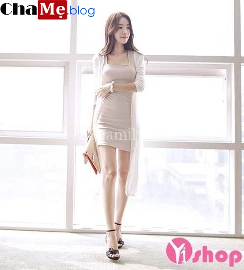 Kiểu áo khoác len mỏng nữ Hàn Quốc đẹp Hot nhất mùa đông 2021 - 2022