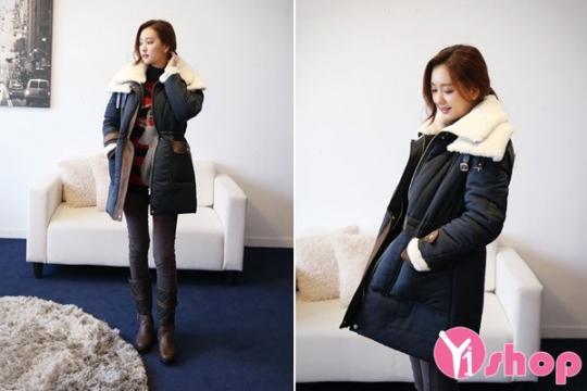 Kiểu áo khoác nữ công sở đẹp ấm áp ngày lạnh thu đông 2019