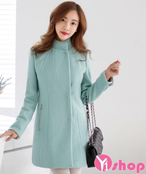 Kiểu áo khoác nữ dáng dài đẹp phong cách Hàn Quốc không lạnh thu đông 2021 - 2022