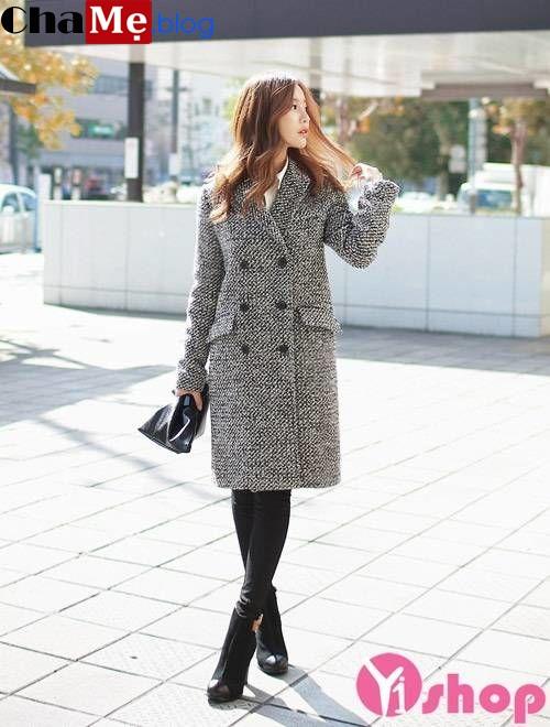 Kiểu áo khoác nữ dáng dài đẹp thu đông 2021 - 2022 ngày trở lạnh chẳng ngại chi