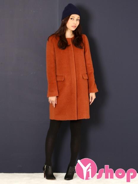 Kiểu áo khoác nữ không cổ đẹp cho nàng công sở phá cách thu đông 2021 - 2022