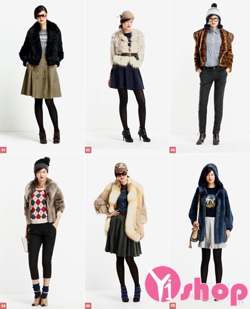 Kiểu áo khoác nữ lông thú dáng ngắn đẹp ấm áp nhất thu đông 2021 - 2022