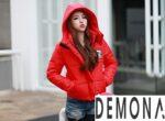 Kiểu áo khoác phao màu đỏ nữ đẹp hàn quốc thu đông 2021 – 2022