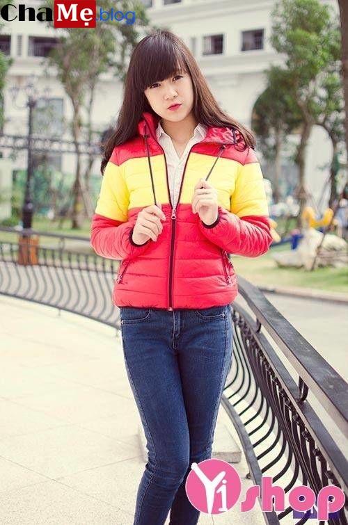 Kiểu áo khoác phao nữ sài gòn tphcm da bóng đẹp hàn quốc thu đông 2021 - 2022